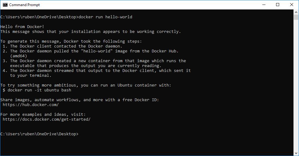 Docker - Hello World Container